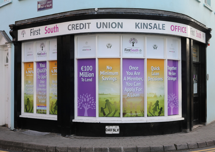First South Credit Union (Kinsale) Window Display Page Slide 1